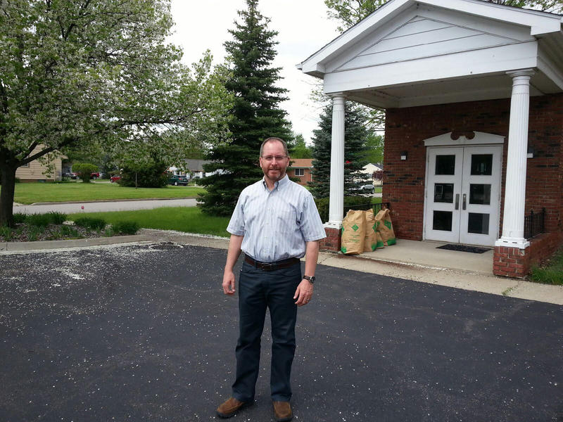 Pastor Jim Newcomer from Calvary Baptist Church on Ecorse Road.