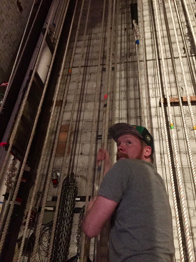 Jared Van Eck, projectionist and sound engineer at the Michigan Theater in Ann Arbor