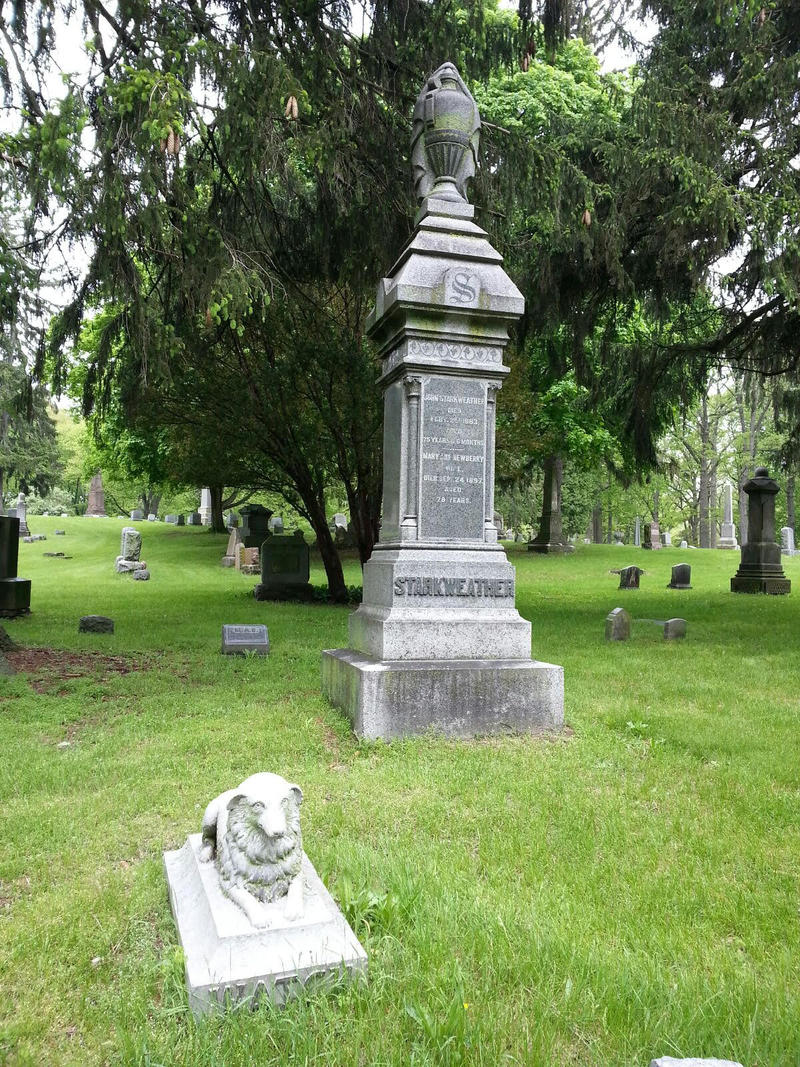 Starkweather grave at Highland Cemetery.