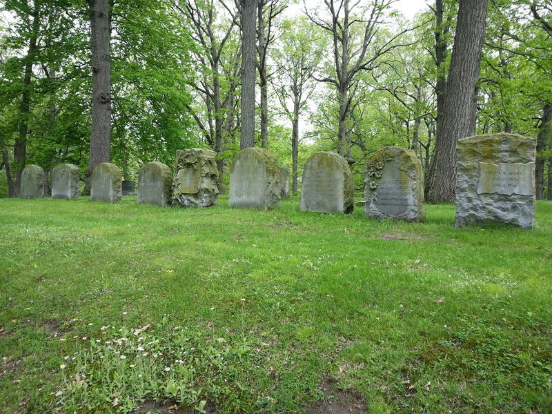 Headstones at Highland Cemetery.