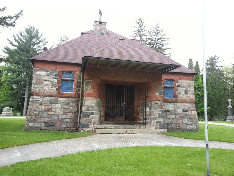 Starkweather Memorial Chapel at Highland Cemetery.