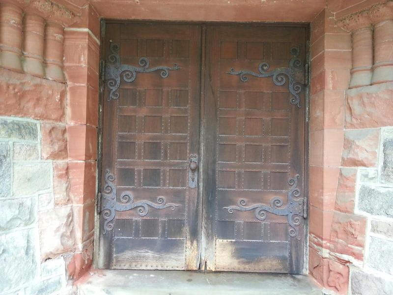 Starkweather Chapel doors.