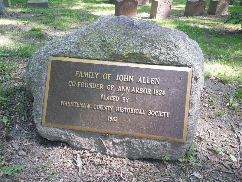 Family members of one of Ann Arbor's founders are buried at Forest Hill.