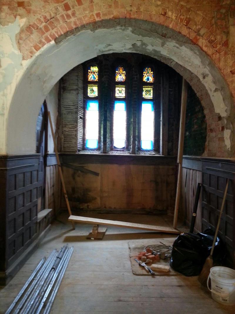 Starkweather Chapel coffin area.