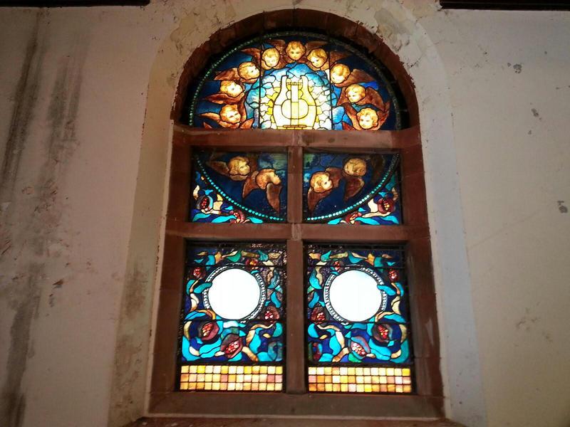 Tiffany glass windows at Starkweather Chapel.
