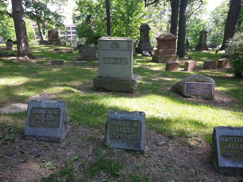 Allen family graves at Forest Hill.