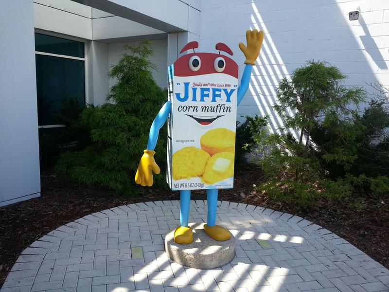 Corny the mascot.