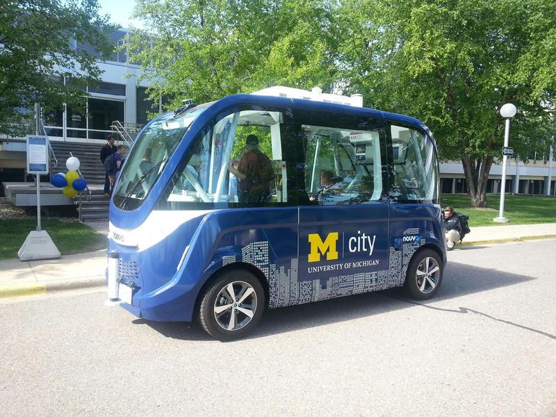 The NAVYA driverless shuttle.