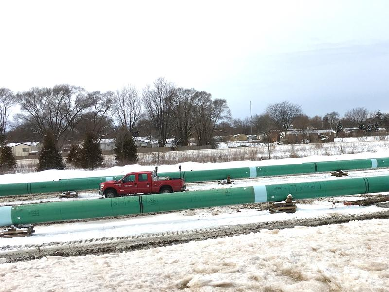 Nexus natural gas pipeline construction in Ypsilanti-February 2018