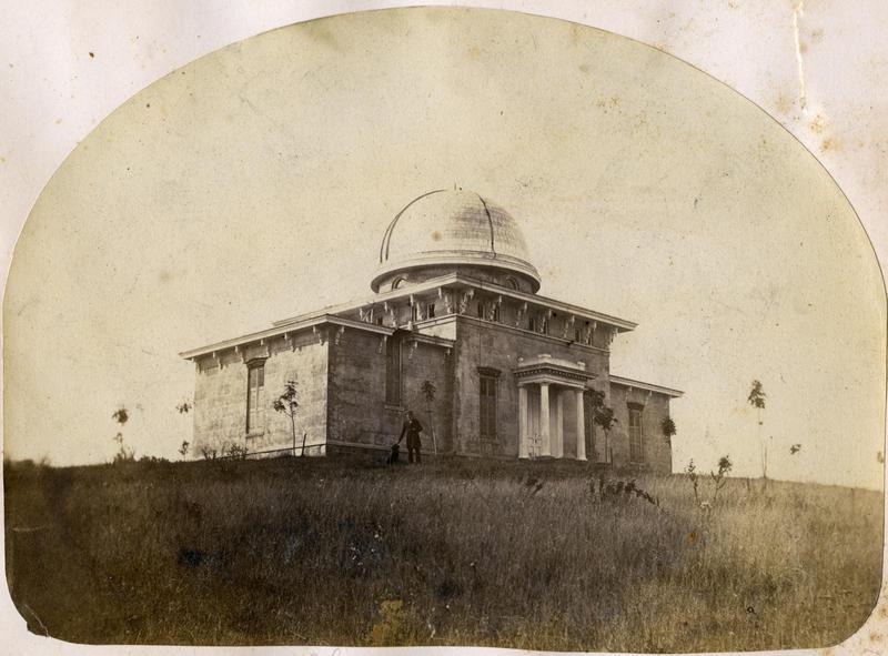 Detroit Observatory in 1858.