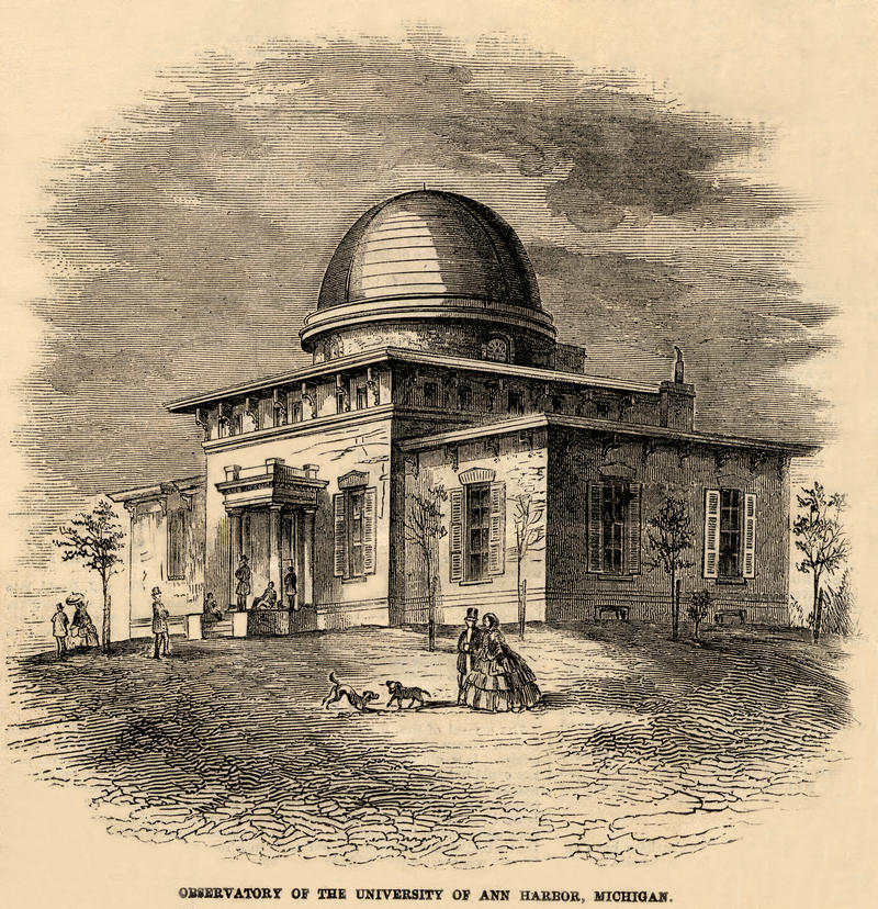 The Detroit Observatory in 1859.