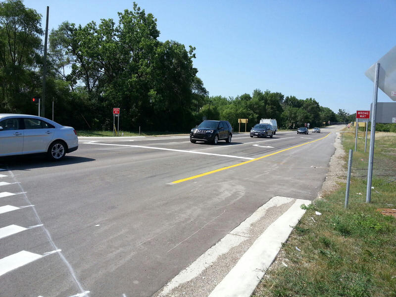 Traffic on US-12 in Ypsilanti Township.