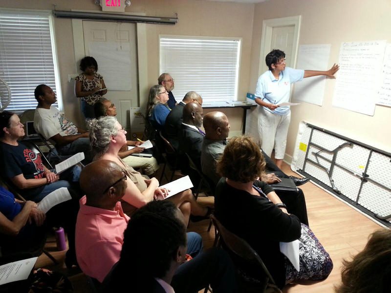 Members of the New West Willow Neighborhood Association met on Monday July 9th.