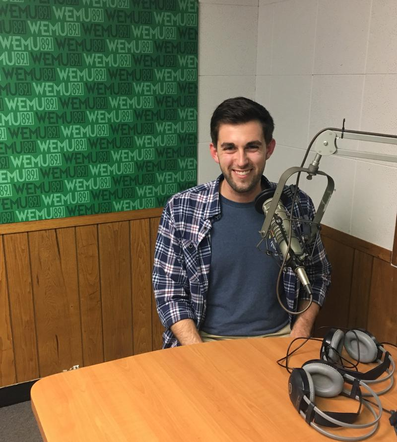 Dominic Seipenko at the WEMU studios.
