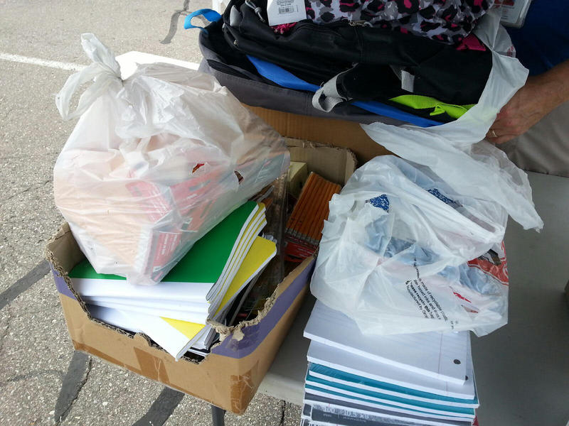 "School supplies for ""Stuff the Bus"""