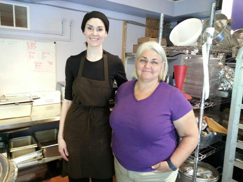 Chocolate Maker Anna MacKinnon and Co-owner Barbara Wilson.
