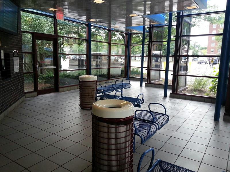 Ypsilanti Transit Center lobby.