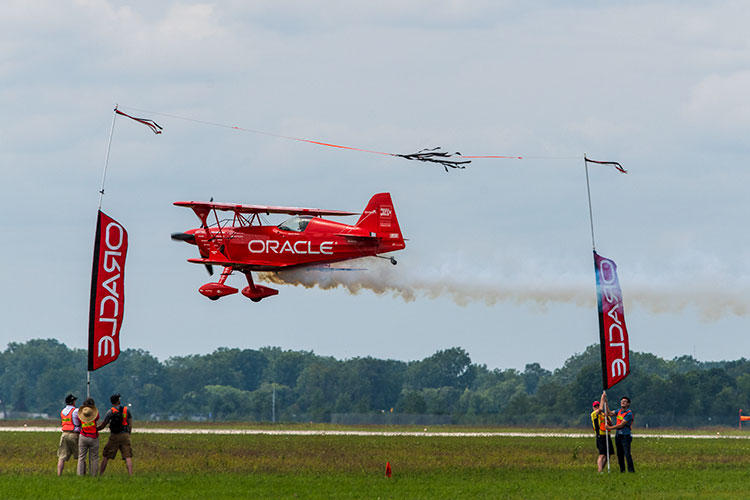 Aerobatic pilot Sean D. Tucker at Thunder Over Michigan