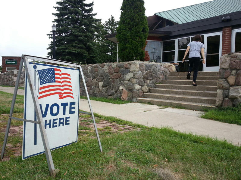 EMU Honors College polling location in Ypsilanti.