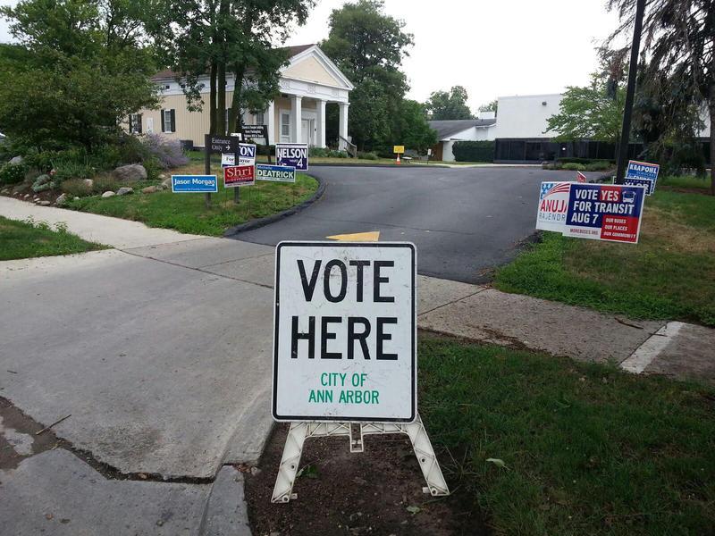 St. Clare's Episcopal Church /Temple Beth Emeth polling location in Ann Arbor.
