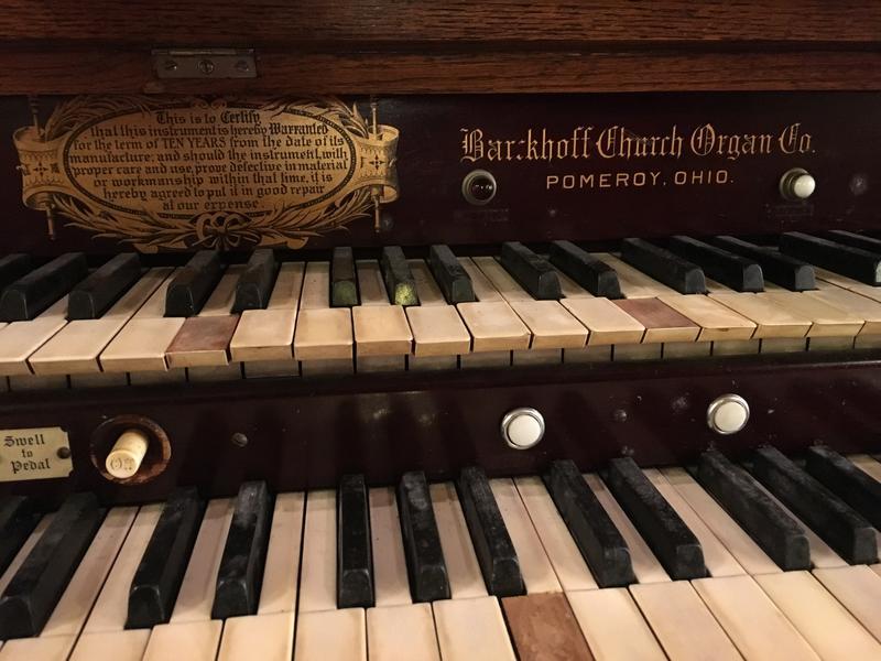 Close-up on Barckhoff Church organ.