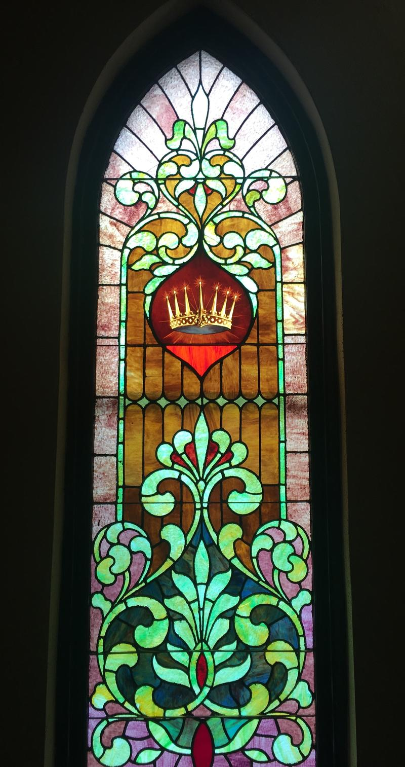 All the windows inside the Ypsi are stained glass.