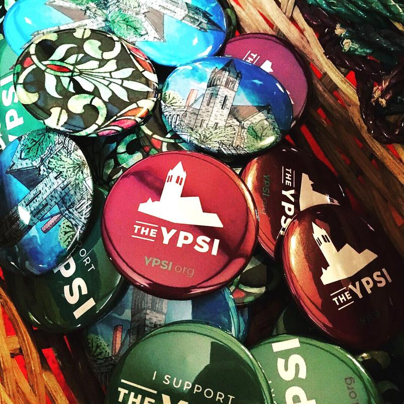 Some promotional buttons created for the Ypsi.
