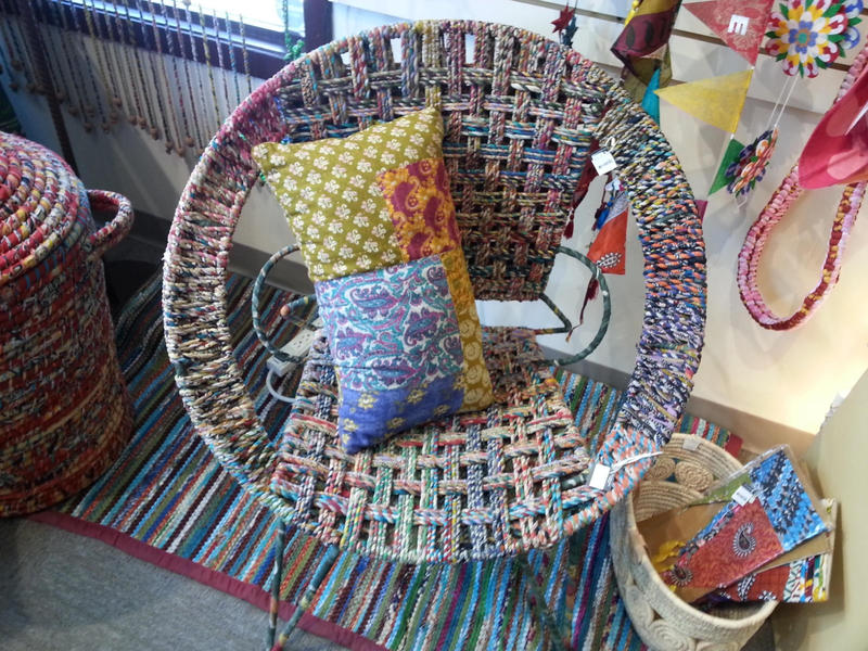 Outdoor furniture sold at Ten Thousand Villages