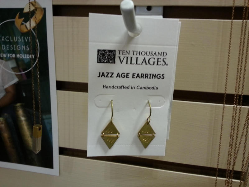 Earrings sold at Ten Thousand Villages