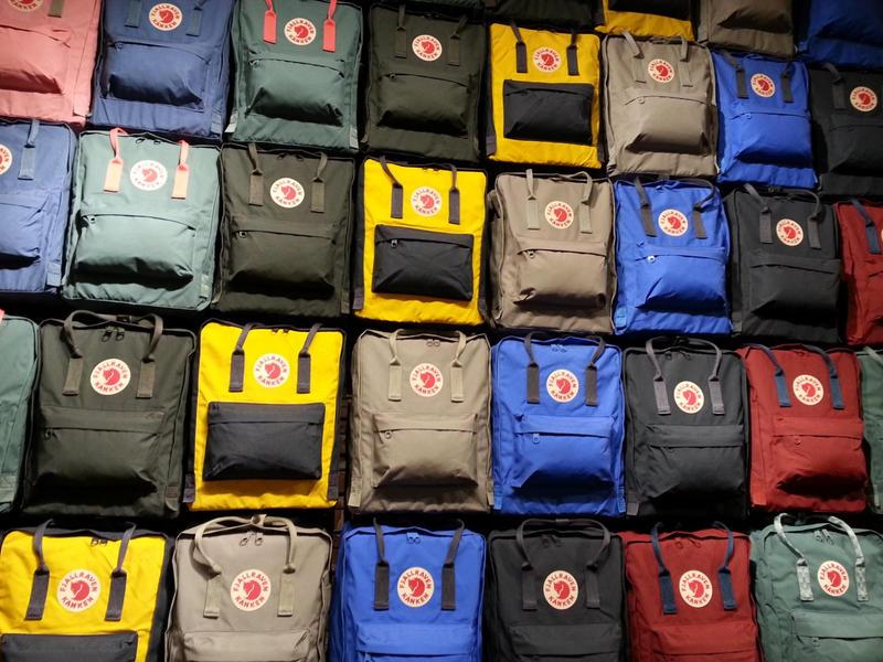 Backpacks sold at Fjallraven