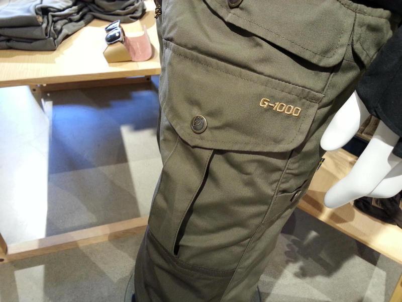 Cargo pants sold at Fjallraven