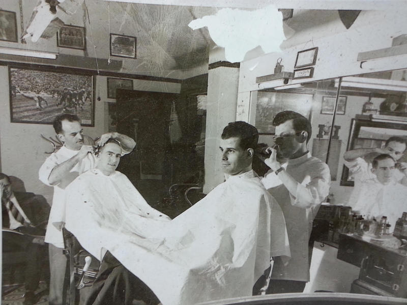 Old picture in Arcade Barbers