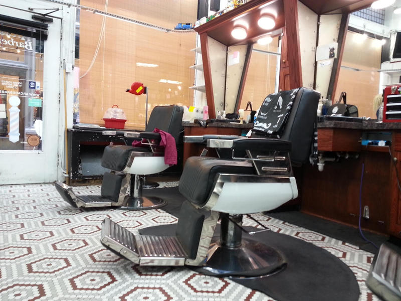 Barber chairs in Arcade Barbers