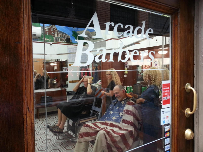 Entrance to Arcade Barbers