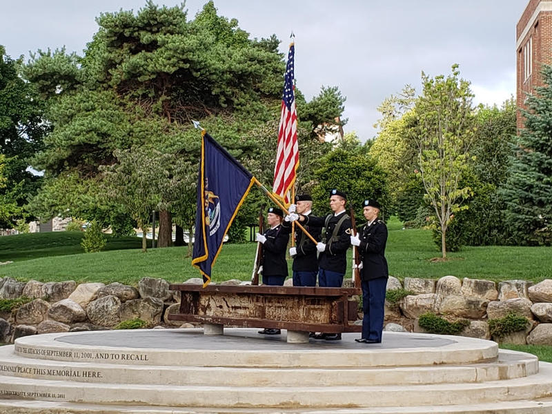 September 11 ceremony at Pease Park in Ypsilanti.