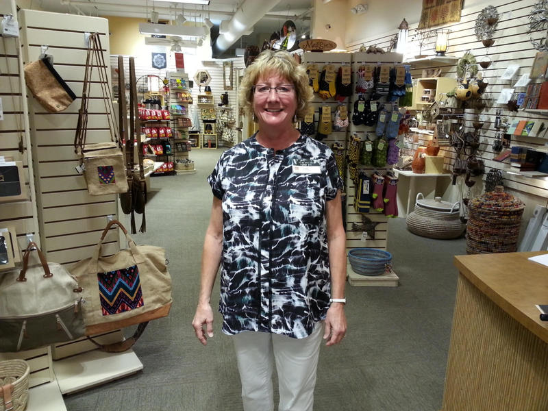 Ten Thousand Villages store manager Cathy Marks
