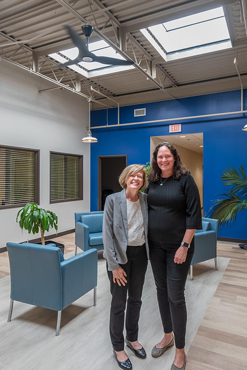 Ann Routt (L) and Alyson Robbins (R) at the Smith Furniture Building