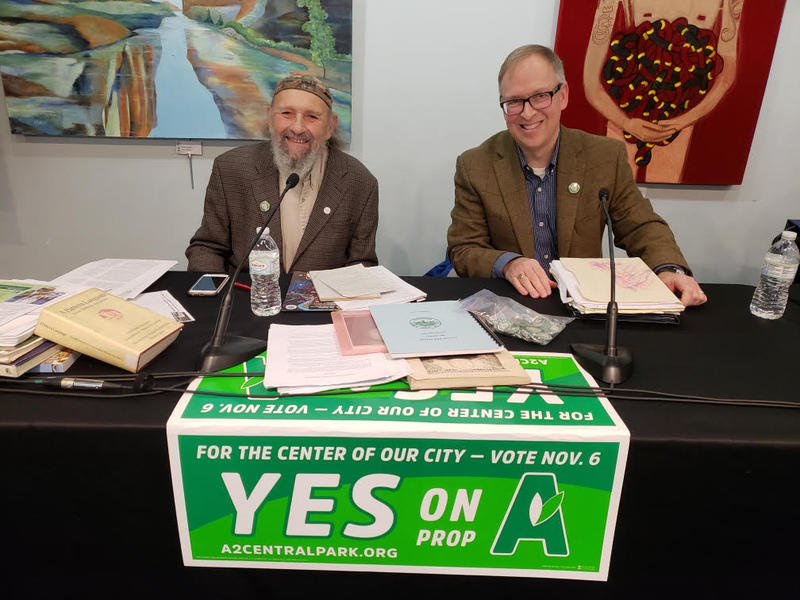 Alan Haber and Will Hathaway spoke in favor of Proposal A at the discussion.