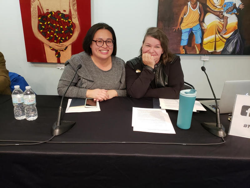 Linh Song and Jessica A.S. Letaw spoke against Proposal A at the panel discussion.