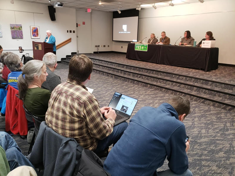 The panel discussion was hosted by the League of Women Voters of the Ann Arbor Area.