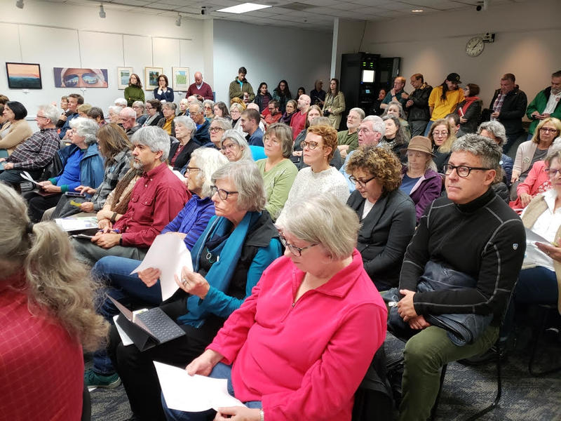 Over 130 people attended the panel discussion for Proposal A.