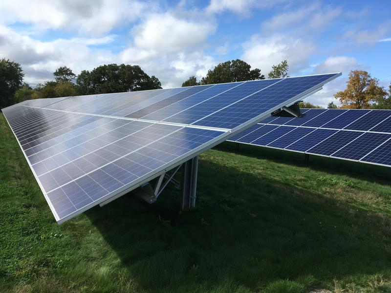 A few of the 200,000 panels at the DTE solar park in Lapeer, October 2018.