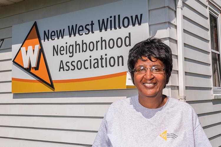 New West Willow Neighborhood Association President Jo Ann McCollum