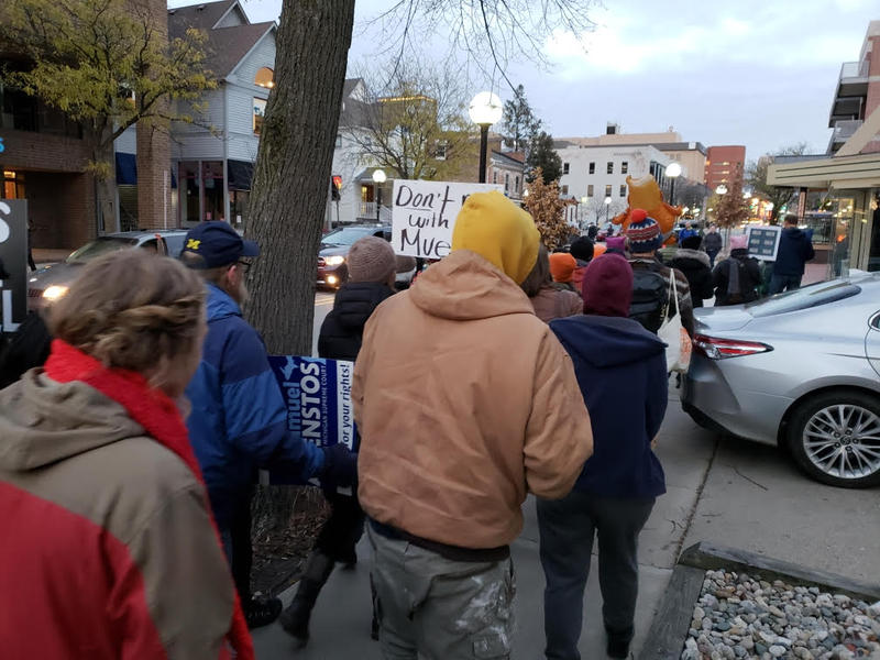 March along East Liberty.