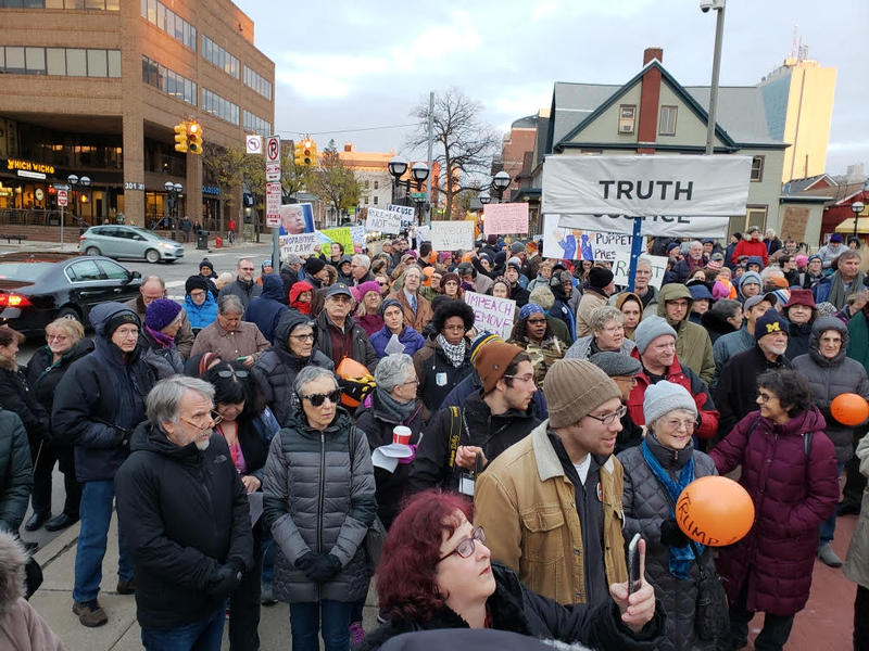 Protest was held in Ann Arbor.