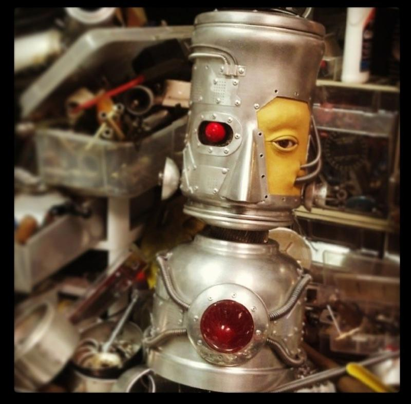 Robot with eye glass once used by Fuller's aunt.