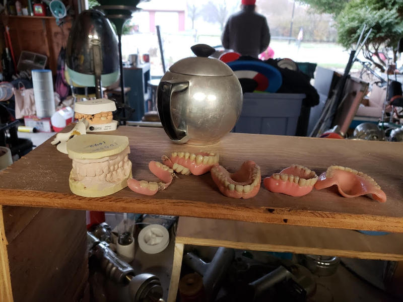 Fuller also uses dentures and dental molds for his robots.