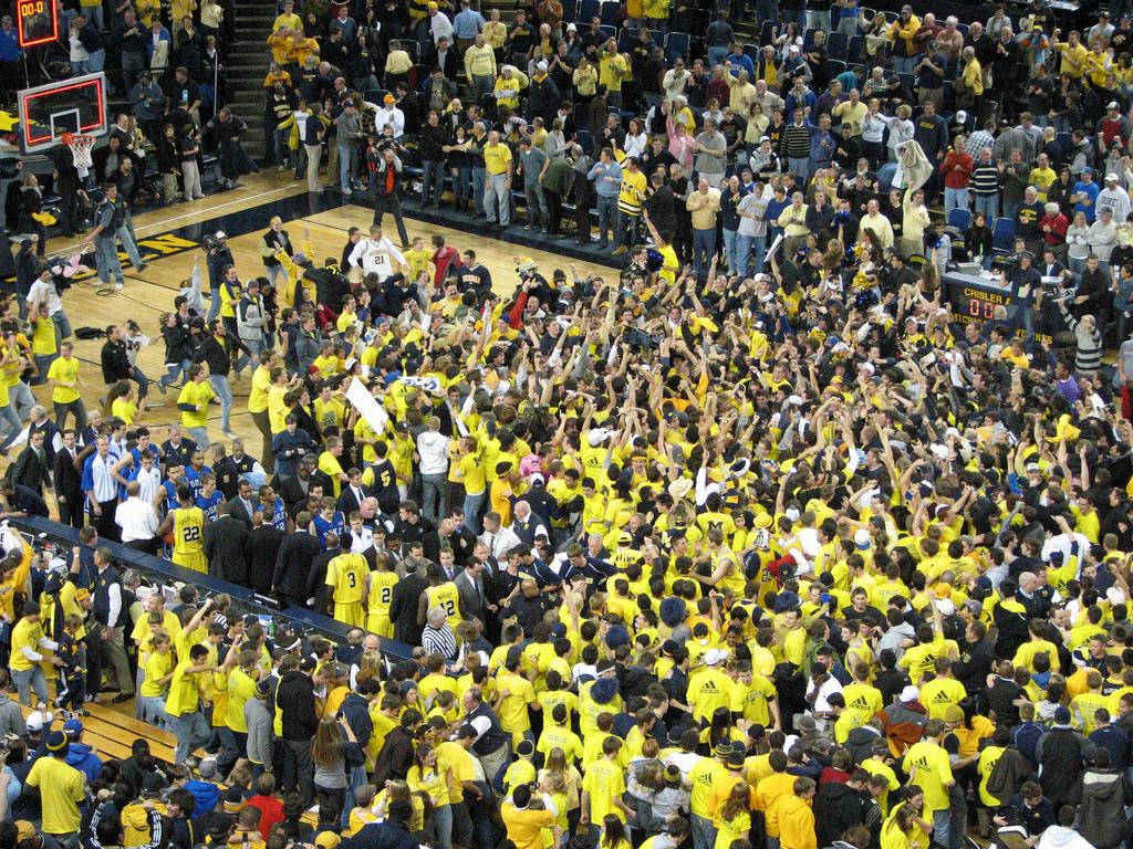 Basketball Arena Fans Crisler Arena Fans After a