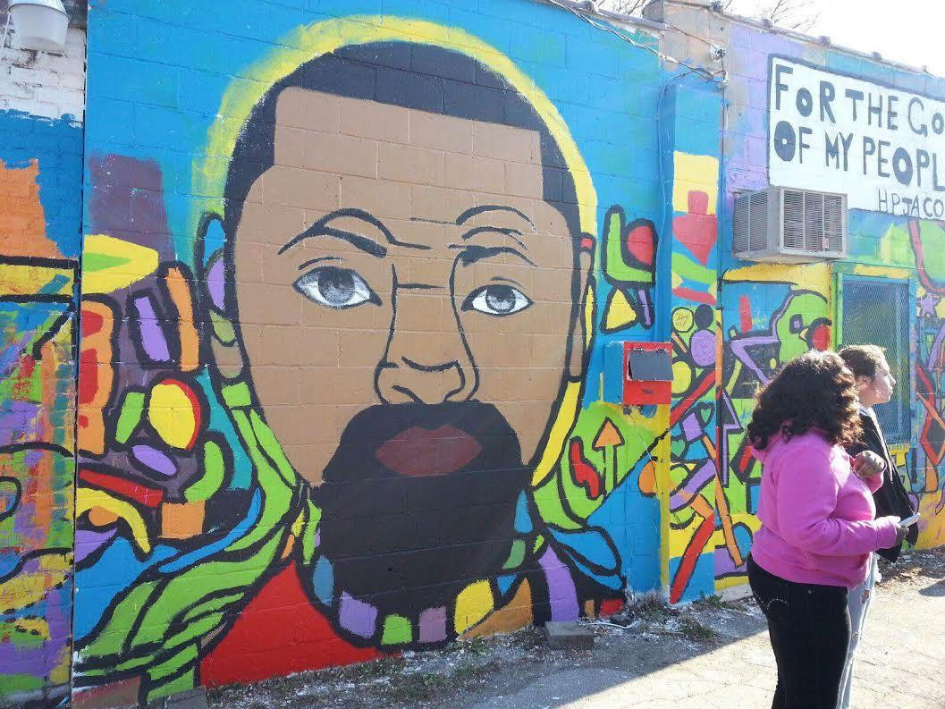 Ypsilanti youth paint murals to deliver messages about for African american mural