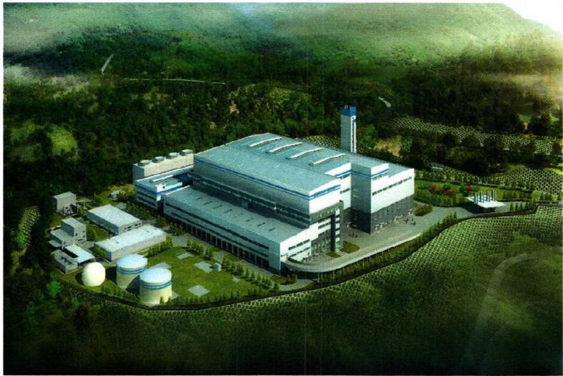 A rendering of the trash-burning, electricity-producing generator proposed for 48 acres of the former Seneca Army Depot.
